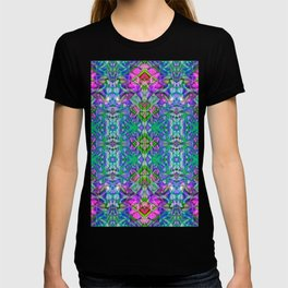 Fractal Art Stained Glass G372 T-shirt