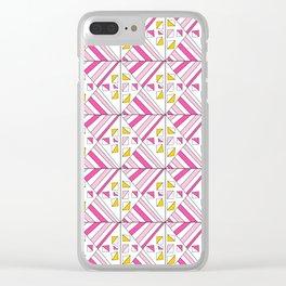 Symetric triangle 2 -vichy, gingham,strip,triangle,geometric, sober,tartan,mandala Clear iPhone Case