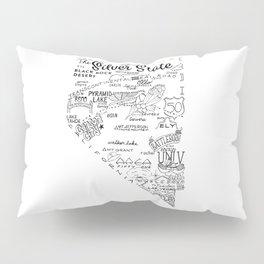 Nevada - Hand Lettered Map Pillow Sham
