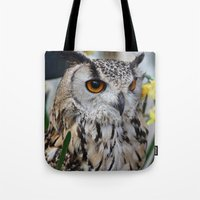 elmo Tote Bags featuring Elmo III by Astrid Ewing