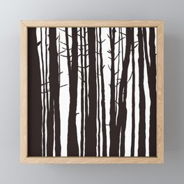 The Trees and The Forest Framed Mini Art Print
