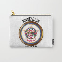Minnesota Proud Flag Button Carry-All Pouch