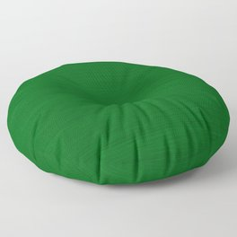 Emerald Green Brush Texture - Solid Color Floor Pillow