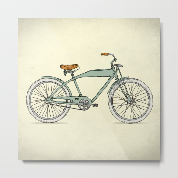 Retro-bicycles (1903) Metal Print