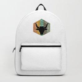 Bull Retro Vintage Bull Head for Rodeo Fans Bull Lovers Gifts Backpack