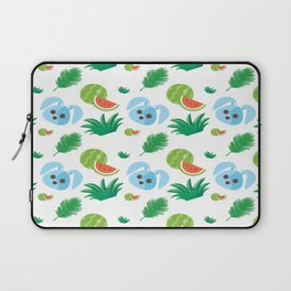Watermelon And Rabbits Summer Pattern Laptop Sleeve