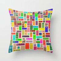 doors Throw Pillows featuring Doors - White by Finlay McNevin