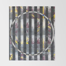 Polarized - circle graphic Throw Blanket