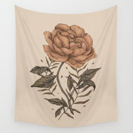 Peony and Ferns Wall Tapestry
