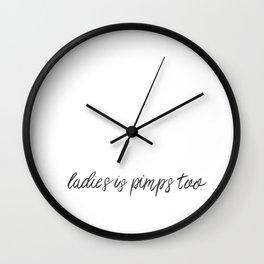 pimps Wall Clock