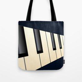 Piano Keys Perspective Tote Bag