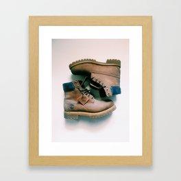 Throwback Lumberjack Framed Art Print