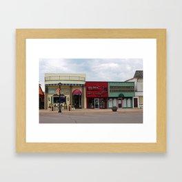 Grayling Michigan Downtown Framed Art Print