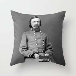 General George Pickett Portrait Throw Pillow