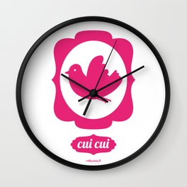 pink bird Wall Clock