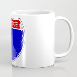 Interstate Sign Isolated Coffee Mug