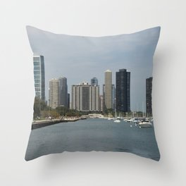 Chicago Shoreline, Skyline, Lake Michigan Throw Pillow