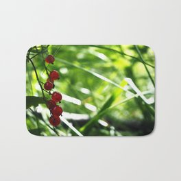red currant Bath Mat