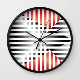 Red, Black & White Wall Clock