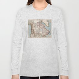 Vintage Map of Canada (1905) Long Sleeve T-shirt