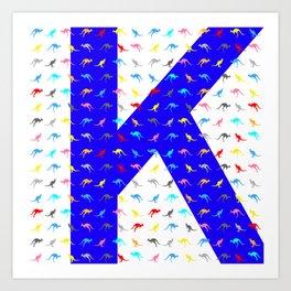thirty shades of kangoroos Art Print