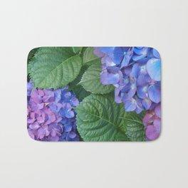 Blues and Pinks Hydrangeas Bath Mat
