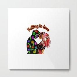 Falling in Love Metal Print