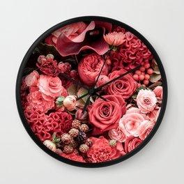 Flowers Fanfare Wall Clock