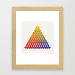 Lichtenberg-Mayer Colour Triangle recoloured remake, based on Mayer's original idea and illustration Framed Art Print