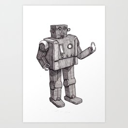 Robot Toy Shirt Art Print