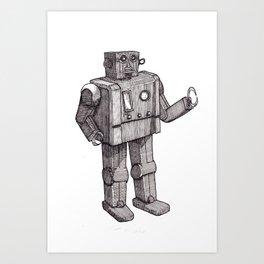 Robot Toy Shirt Art Print