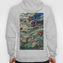 Blue Abstract Print Hoody
