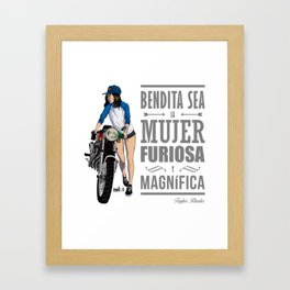 Biker girl Framed Art Print