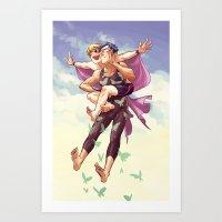 flying butts Art Print