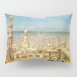 Islamic Masterpiece 'View of Cairo, Egypt' by Jéan Leon Gerome Pillow Sham