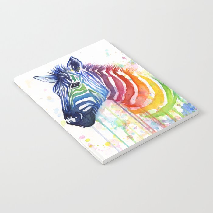 Rainbow Zebra Colorful Animal Notebook