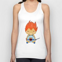 thundercats Tank Tops featuring A Boy - Lion-O (Thundercats) by Christophe Chiozzi