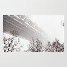 Verrazano Bridge: Into the Fog Rug