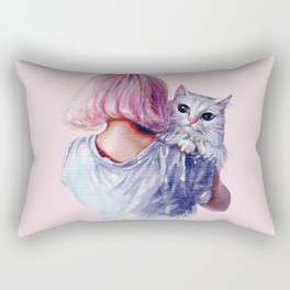 Pink Cuddles Rectangular Pillow