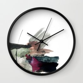 Begin [3]: a minimal abstract mixed media piece Wall Clock