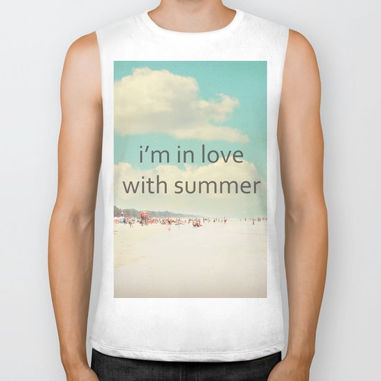 i'm in love with summer Biker Tank