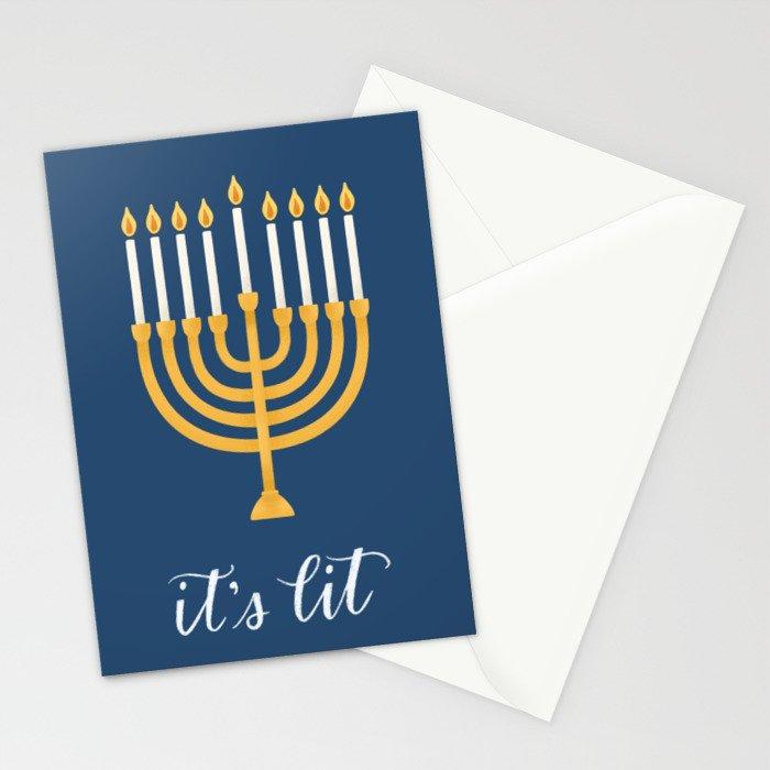 It's Lit - Menorah Stationery Cards