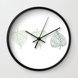 Linden leaves Wall Clock