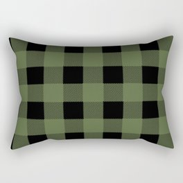 Green Buffalo Plaid Rectangular Pillow
