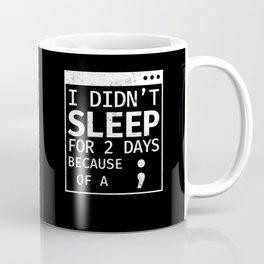 Semicolon Hide And Seek Champion Programmer Coding Coffee Mug