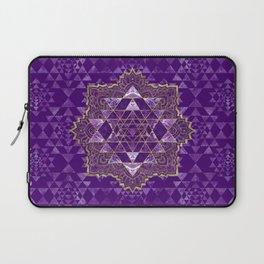 Sri Yantra  / Sri Chakra Gold and Amethyst Laptop Sleeve