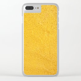 Yellow background Clear iPhone Case