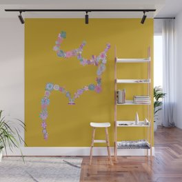 In Full Bloom (moss yellow) Wall Mural