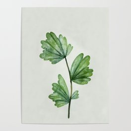 Watercolor Leaf 4 Poster