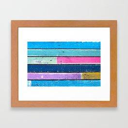 color grunge wood 2 Framed Art Print